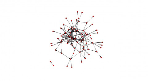 Figure 6.10 Visualisation of the network of the directed links of the CEOs with each other. All links formed after 1-1-2009. Isolates are not represented in this picture.